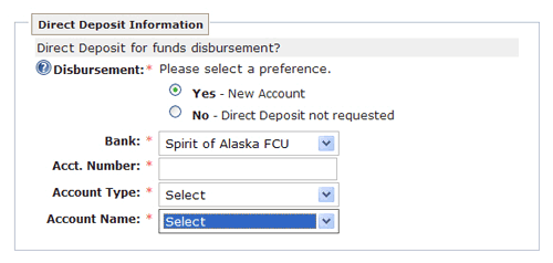 Direct Deposit Information